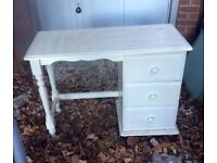 Panted pine dressing table