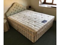 King size divan base with drawers, mattress and headboard