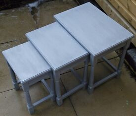 Grey vintage style nest of tables