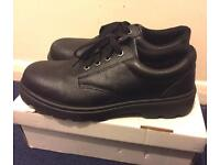 Black Safety Shoes in box - barely used