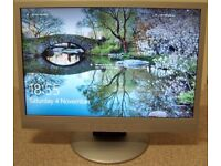 19 inches Widescreen LCD Monitor, Built in Loudspeakers, Audio In, Headphone Out