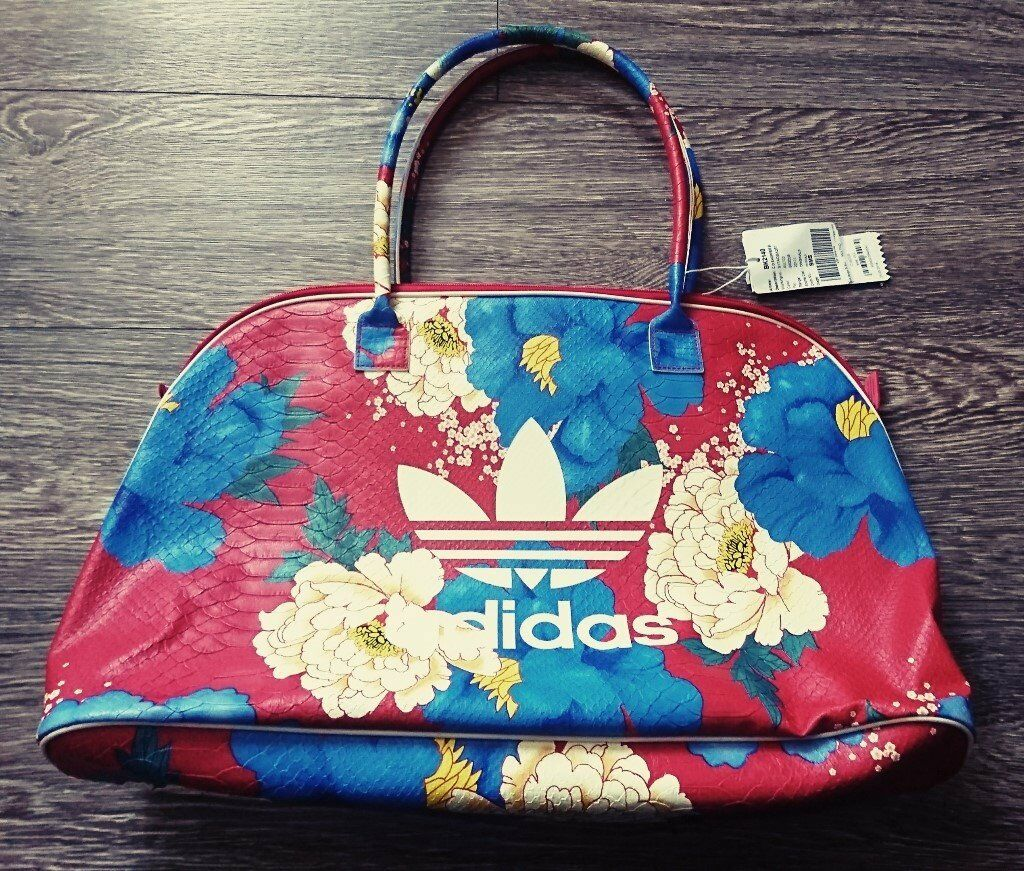 55367f993f Adidas Originals X FARM Women s Chita Print PU Imitation Leather Shopper Bag