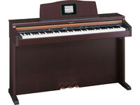Roland HPi-5 Digital Interactive Piano rosewood LCD screen built into the stand