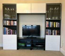 IKEA Bestå TV stand, bookshelves and cupboards