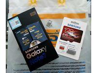 Samsung Galaxy Note 7 N930FD Gold Platinum 64GB + Samsung EvoPlus 128GB MicroSD