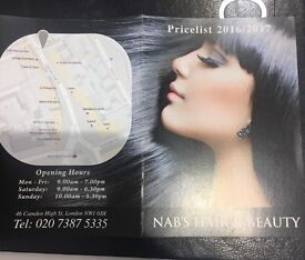 Nabs hair and beauty treatments