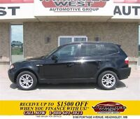 2006 BMW X3 ALL WHEEL DRIVE, BLACK BEAUTY, LOADED, PANO ROOF!!
