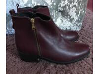 Oasis Emma Side Zip Ankle Boots Shoes Size 6