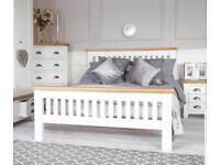 Hampshire oak double bed