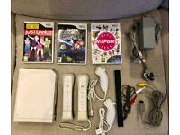 *SOLD* Nintendo Wii Console Bundle / 2 MotionPlus Controllers / Super Mario / Just Dance / Wii Party