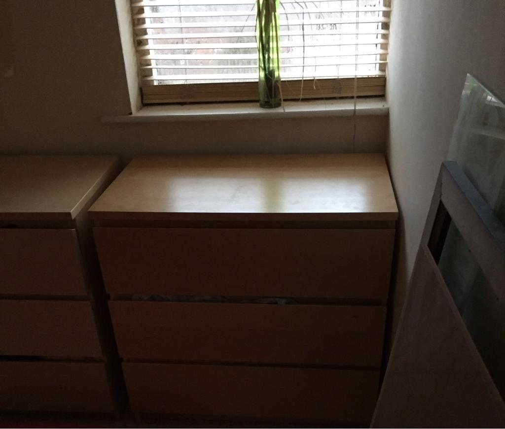 Ikea beech chest draws
