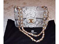Snakeskin women's handbag