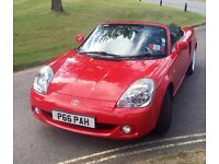 Red 2004 MR2, matching hardtop with full MOT, Tax, FSH & aircon.