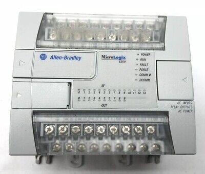 Allen-bradley 1762-l24awa Ser C Frn 8 Micrologix 1200 Plc Controller Tested