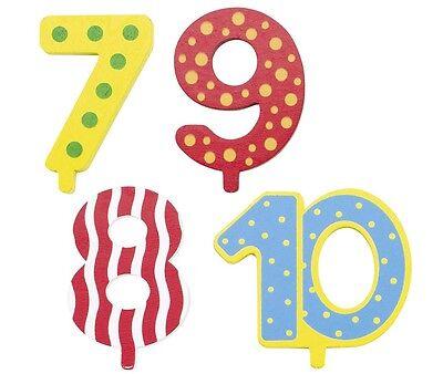 GOKI zusätzliche Zahlen 7 - 10 für Geburtstagszug