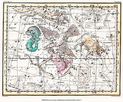 Astronomy Celestial Atlas Jamieson 1822 Plate-10 Art Paper or Canvas Print