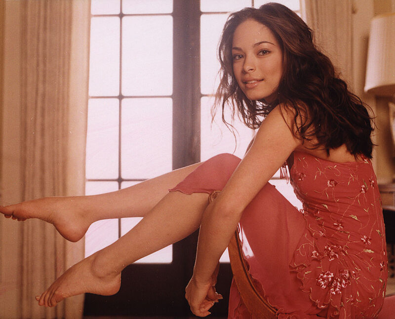 Kristin Kreuk With Legs In The Air 8x10 Photo Print