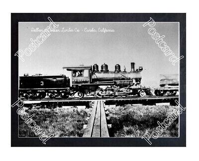 Historic Dolbeer & Carson Lumber Co. - Eureka, California Train Postcard 2