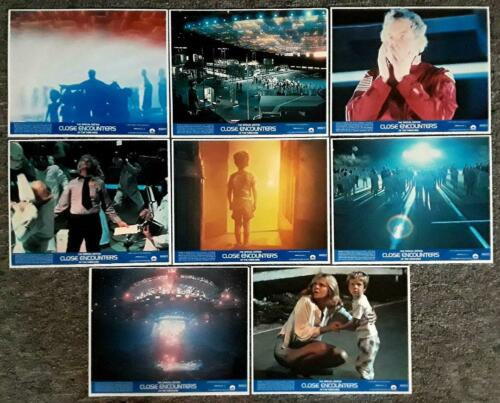 CLOSE ENCOUNTERS OF THE THIRD KIND - 1980 Re-release Mini Lobby Card Set of 8 -