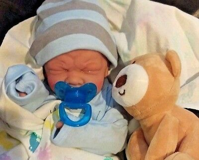 PREEMIE FIRST TEARS BABY BOY DOLL REAL BOY  WITH BABY EXTRAS TAKES A PACIFIER!