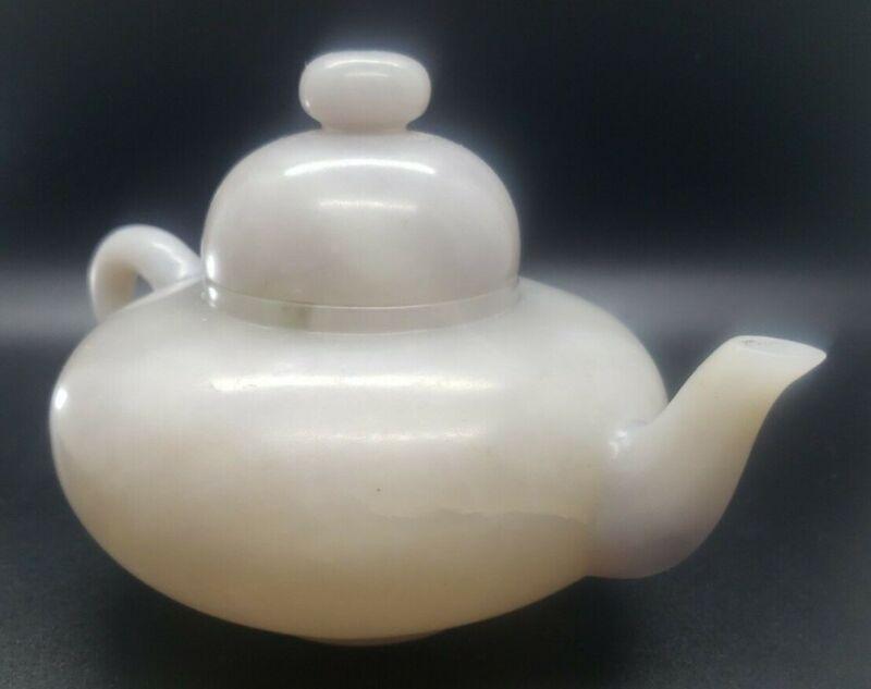 White Mutton Fat Jade Teapot