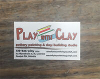 Play with Clay Team Members Dwnt. Galt