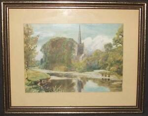 Lot of 5 Originals & prints of Church's and religous scenes Wattle Grove Liverpool Area Preview