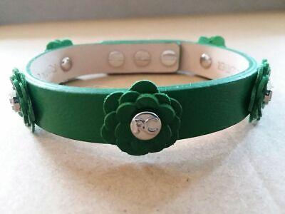 New Rustic Cuff Green Flower Leather Single Wrap Meagen Bracelet -