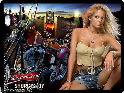 Beer Babe (Budweiser Beer Motorcycle Babe Refrigerator Magnet )
