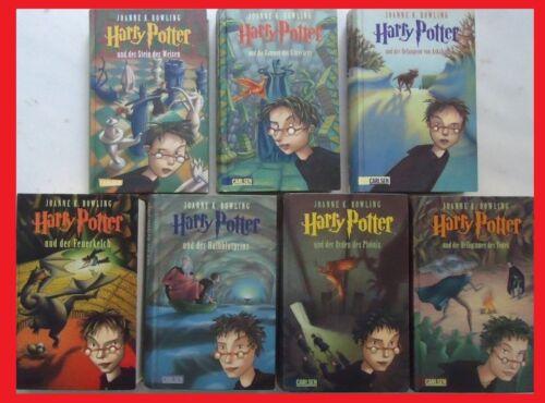 7 x HARRY POTTER, Band 1,2,3,4,5,6+7 von Joanne K. Rowling. Gebunden.  Gut