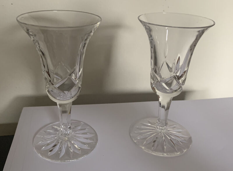 Atlantis 2 Pack Crystal Cordial Glasses Great Condition