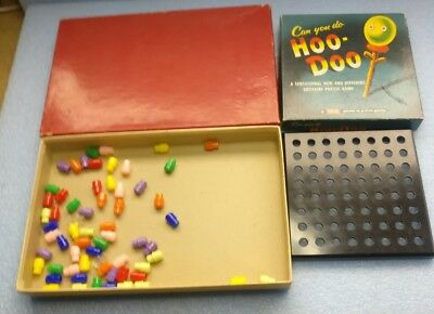 Hoo-Doo Solitarie Puzzle Game By Tryne Vintage Halloween Scary Toy Box all Pegs (All Scary Halloween Games)