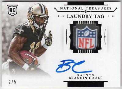 Brandin Cooks 2018 Panini Native Treasures Rookie On Card Auto Laundry Tag /5