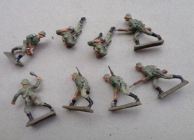 original  LINEOL  8 Stück seltene  4 cm Figuren Soldaten  1938