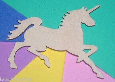 Unicorn Horse Unfinished Wood Shape Cut Out UH400 Crafts Lindahl Woodcrafts    - Unicorn Cutout