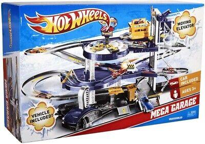 Mattel Hot Wheels Mega Garage Playset - Mattel V3260 - NEW W BOX - HOT ITEM!