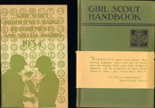 Girl Scout 1934/36 Handbook Soft cover & Hardback with Banner attached