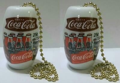 2 Coca Cola Ceiling Light / Fan Pulls # 1