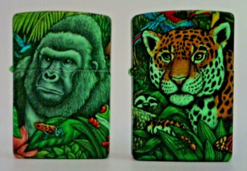 Zippo Mysteries Of The Forest 25th Anniversary Lighter Set With Wooden Case New