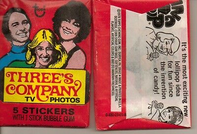 Threes Company  Unopened Stickers Pack From Box Suzanne Somers Dwts Dancing