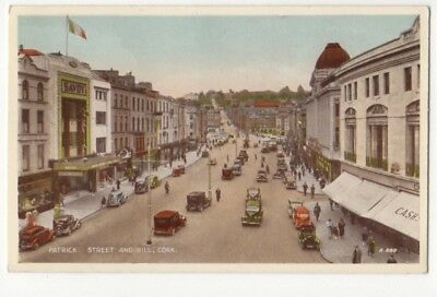 Patrick Street & Hill Cork Ireland Vintage Postcard 782b