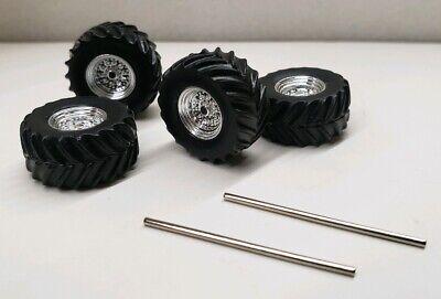 custom builds wheels tires1/64 4x4 Truck mud alterain axels greenlight monster Monster Truck Tire Clay