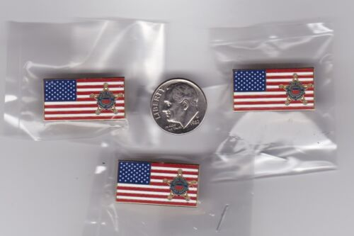 US Secret Service Lapel Hat Pin American Flag 3-Pack