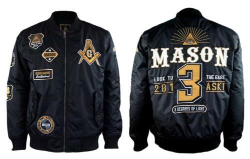 Mason Masonic Bomber Jacket- Size XL-New!