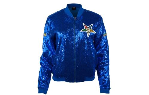 Order of the Eastern Star OES Sequin Jacket- Blue- Size 3XL- New!