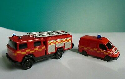 N Gauge Vehicles @160:1 scale model Wiking Fire Engine + Service support vehicle for sale  Gillingham