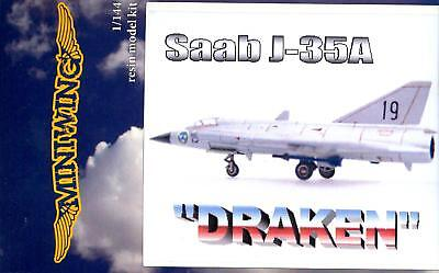 MiniWing Models 1/144 SAAB J-35A DRAKEN Swedish Jet Fighter for sale  Shipping to Canada