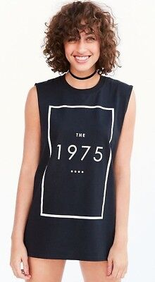 The 1975 Logo Muscle Tee Tank Top T-Shirt NEW Licensed & Official (Logo Muscle Shirts)