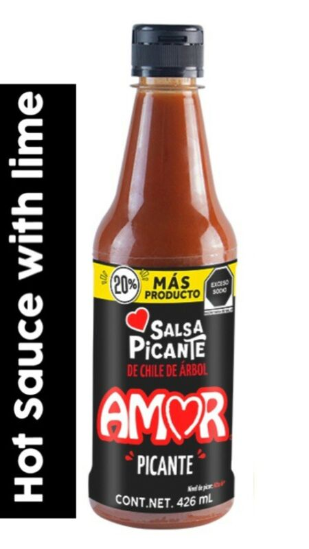 AMOR SALSA PICANTE HOT MEXICAN SAUCE SPICY 426ml **FREESHIPPING**