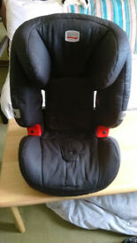 Britax car seat in excellent condition with removable washable covers.